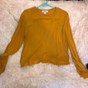 Long sleeve loose fitting forever 21 mustard shirt